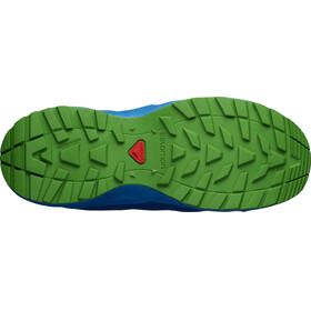 Salomon XA Elevate CSWP Shoes Junior mazarine blue wil/indigo bunting/onlime lime